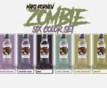 "Набор World Famous Ink ""MAK'S KORNEV ZOMBIE 6 BOTTLE SET"""