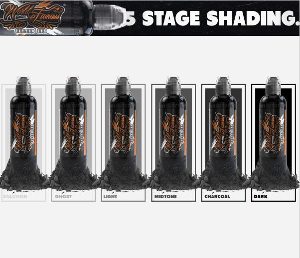 "Набор World Famous Ink ""WORLD FAMOUS 5 STAGE SHADING SET"""